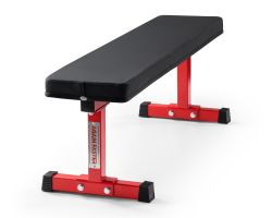 Again Faster® Red Team Flat Weight Bench
