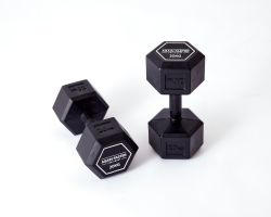 Again Faster Rubber Handle Hex Dumbbells