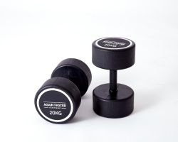 Again Faster Rubber Coated Round Dumbbells