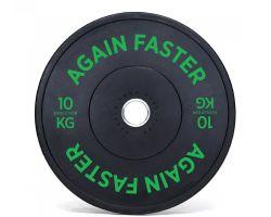 Again Faster Evolution Rubber Bumper Plate - green 10kg version