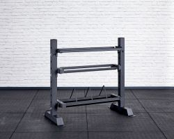 Competition Storage Rack - Short and narrow version - angled view