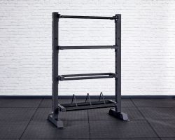 Competition Storage Rack - Tall and Narrow - Angled View