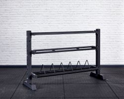 Competition Storage Rack - Short and Wide - Angled View