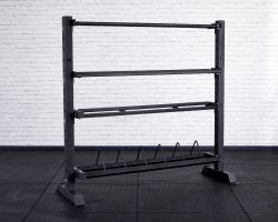 Competition Storage Rack - Tall and Wide - Angled View