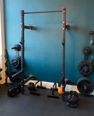 Home Gym Featuring our Folding Power Rack