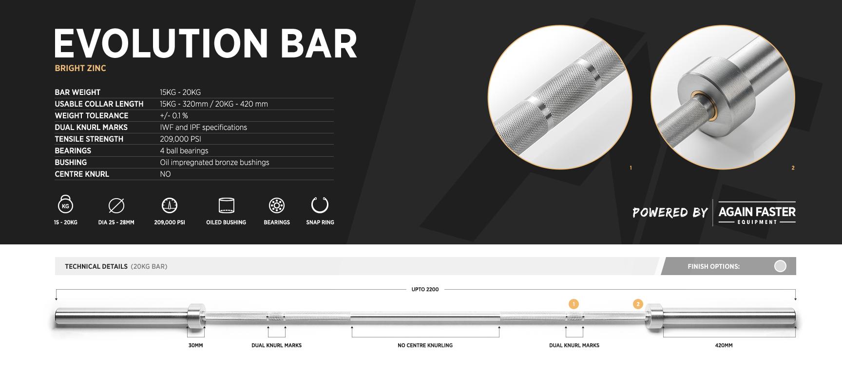 Evolution Bar Specs