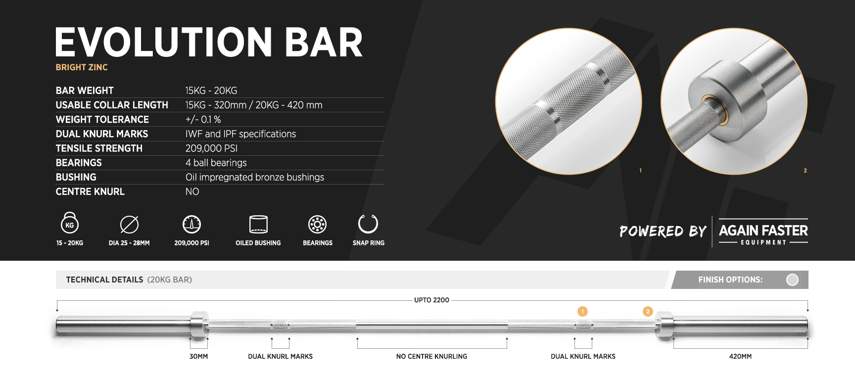 Evolution Bar Details